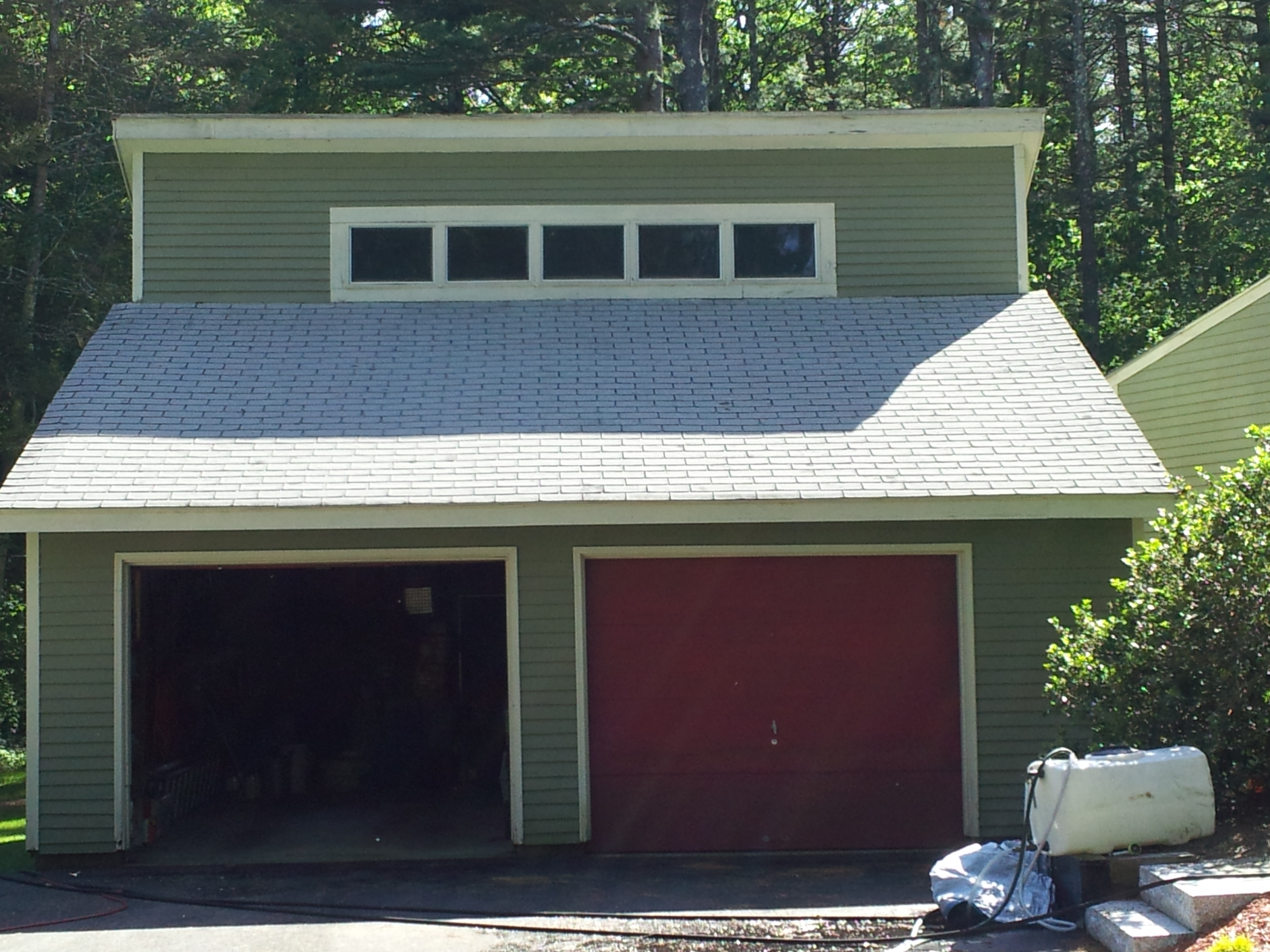Roof Cleaned Of Black Streaks And Moss