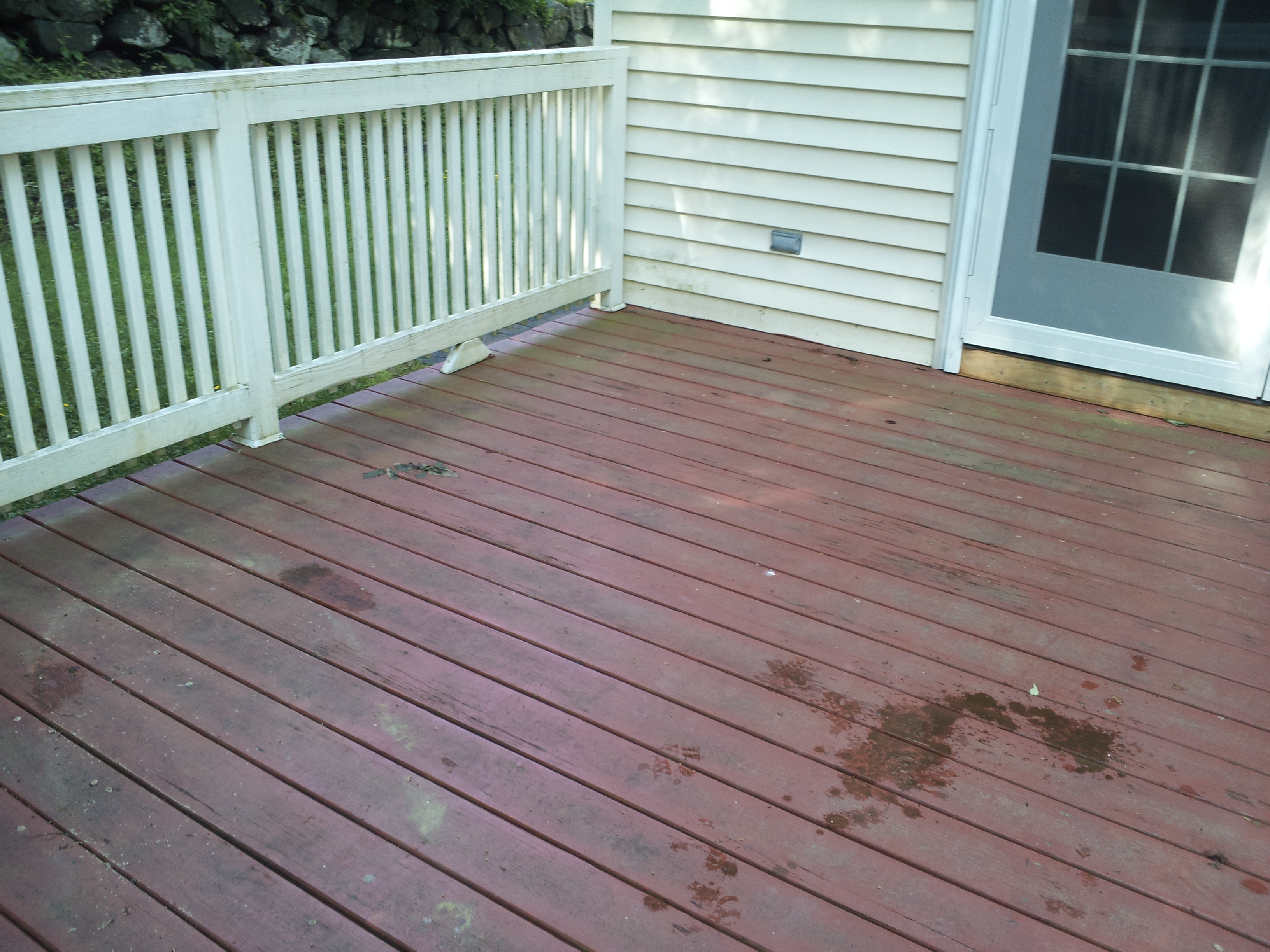 Deck Before Cleaning Painted